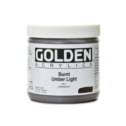 Golden Heavy Body Acrylic Paint, 16 Oz, Burnt Umber Light
