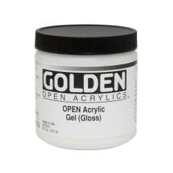 Golden OPEN Acrylic Mediums, Gel Medium, Gloss, 8 Oz
