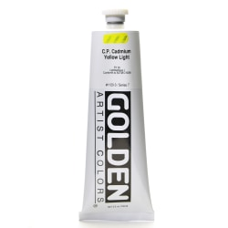 Golden Heavy Body Acrylic Paint, 5 Oz, Cadmium Yellow Light (CP)