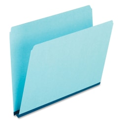 Oxford® Straight-Cut Pressboard Top-Tab File Folders, Letter Size, 30% Recycled, Blue, Box Of 25