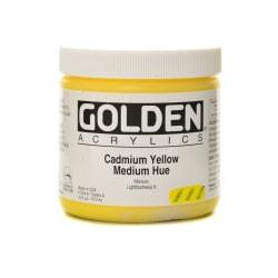 Golden Heavy Body Acrylic Paint, 16 Oz, Cadmium Yellow Medium Hue