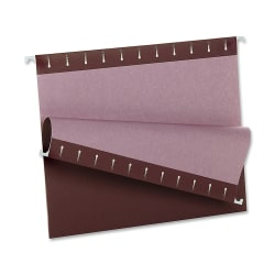 Oxford® Color 1/5-Cut Hanging Folders, Letter Size, Burgundy, Box Of 25