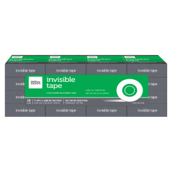 """Office Depot® Brand Office Depot Invisible Tape, 3/4"""" x 1296"""", Clear, Pack of 16 rolls"""