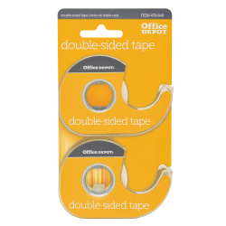"""Office Depot® Brand Double-Sided Tape In Dispensers, 1/2"""" x 400"""", Clear, Pack of 2 rolls"""