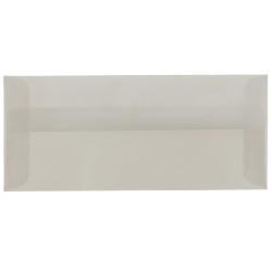 "JAM Paper® Translucent Business Booklet Envelopes With Gummed Closure, #10, 4 1/8"" x 9 1/2"", Platinum Silver, Pack Of 25"