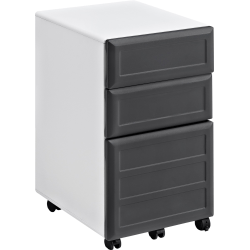 "Ameriwood™ Home Pursuit 17""D Vertical 3-Drawer Mobile File Cabinet, Gray/White"