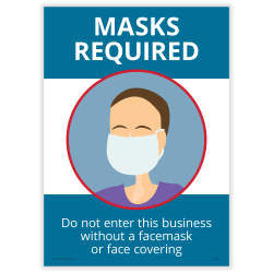"""ComplyRight Masks Required Poster, 10"""" x 14"""", English"""