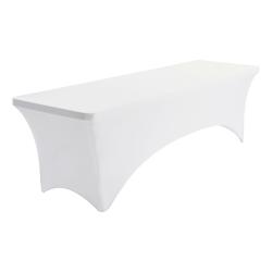 "Iceberg Stretch Fabric Table Cloth, 96"" x 30"", White"