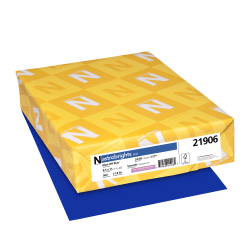 """Neenah Astrobrights® Bright Color Paper, Letter Size (8 1/2"""" x 11""""), 24 Lb, FSC® Certified, Blast-Off Blue, Ream Of 500 Sheets"""