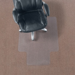 """Realspace™ Chair Mat For Thin Commercial-Grade Carpets, Economy, Standard Lip, 36""""W x 48""""D, Clear"""