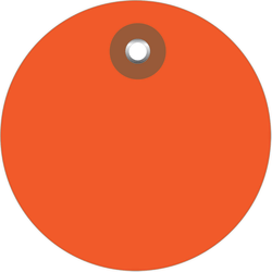 "Office Depot® Brand Plastic Circle Tags, 3"", Orange, Pack Of 100"