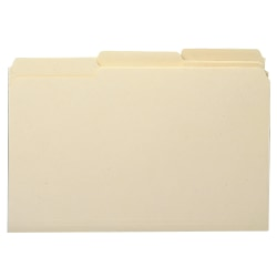 Smead® Manila File Folders, Legal Size, 1/3 Cut, 100% Recycled, Box Of 100