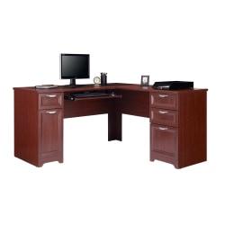 "Realspace® Magellan 59""W L-Shape Corner Desk, Classic Cherry"