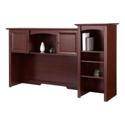 "Realspace® Broadstreet 65""W Hutch For U-Shaped Desk, Cherry"