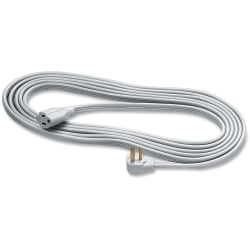 Fellowes Indoor 3-Prong Heavy-Duty Extension Cord, 15', Gray