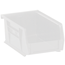 """Office Depot® Brand Plastic Stack And Hang Bin Boxes, 9 1/4"""" x 6"""" x 5"""", Clear, Pack Of 12"""
