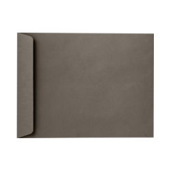 """LUX Open-End Envelopes With Peel & Press Closure, #9 1/2, 9"""" x 12"""", Smoke Gray, Pack Of 50"""