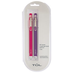 TUL® Mechanical Pencils, 0.7 mm, Pink & Purple Barrels, Pack Of 2