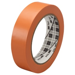 "3M™ 764 Vinyl Tape, 3"" Core, 1"" x 36 Yd., Orange, Case Of 36"