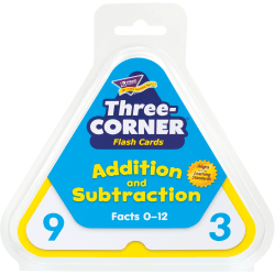 Trend® Three-Corner Flash Cards, Addition And Subtraction, Box Of 48 Cards