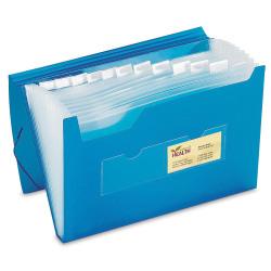 """Office Depot® Brand Polypropylene File, 13 Pocket, Expansion 12"""", 8 1/2"""" x 11"""", Letter, Blue, Pack of 1"""