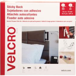 "VELCRO® Brand Sticky Back Fastener Tape Roll, 3/4""W x 49', White"