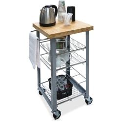 """Vertiflex Companion Serving Cart - Solid Wood - x 20"""" Width x 17.8"""" Depth x 34"""" Height - Assorted - 1 Each"""