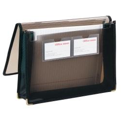 "Office Depot® Brand Polypropylene Poly Extra Deep Document Wallet, 1 Pocket, Expansion 6"", 8 1/2"" x 11"", Letter, Transparent Smoke, Pack of 1"