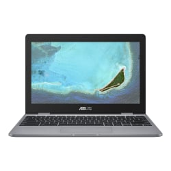 "Asus Chromebook 12 C223NA-DH02 11.6"" LCD Chromebook - Intel Celeron N3350 Dual-core (2 Core) 1.10 GHz - 4 GB LPDDR4 - 32 GB Flash Memory - Chrome OS - 1366 x 768 - Gray"