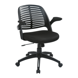 Ave Six Tyler Polyester Mid-Back Office Chair, Black