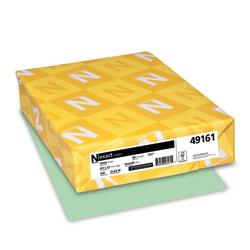 "Neenah Heavyweight Exact® Index Card Stock, 8 1/2"" x 11"", 90 Lb., Green, Pack Of 250 Sheets"