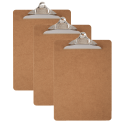 Office Depot® Brand Wood Clipboards, Letter Size, 100% Recycled,Pack Of 3
