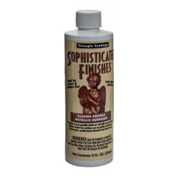 Triangle Coatings Sophisticated Finishes Metallic Surfacers, 8 Oz, Blonde Bronze