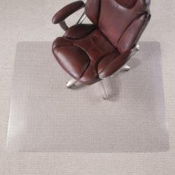 "Realspace™ All-Pile Chair Mat, 46""W x 60""D, Rectangular, Clear"