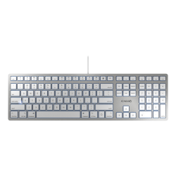 Cherry KC 6000 Slim Wired Keyboard For Mac, Silver/White
