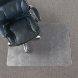 "Realspace™ Chair Mat For Thin Commercial-Grade Carpets, Economy, Rectangular, 46"" x 60"", Clear"