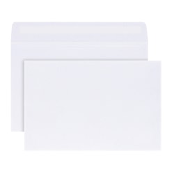 """Office Depot® Brand Greeting Card Envelopes, A9, 5 3/4"""" x 8 3/4"""", White, Box Of 100"""