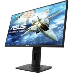 "Asus VG258QR 24.5"" Full HD WLED Gaming LCD Monitor - 16:9 - Black - Twisted nematic (TN) - 1920 x 1080 - 16.7 Million Colors - FreeSync - 400 Nit Maximum - 1 ms GTG - DVI - HDMI - DisplayPort - Speaker"