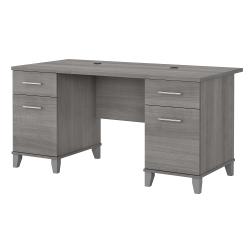 """Bush Furniture Somerset Office Desk, 60""""W, Platinum Gray, Standard Delivery"""