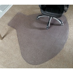 """Realspace™ Chair Mat For L-Shaped Workstations, 66"""" x 60"""", Clear"""