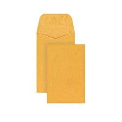 "Office Depot® Brand Coin Envelopes, #1, 2 1/4"" x 3 1/2"", Brown Kraft, Pack Of 500"