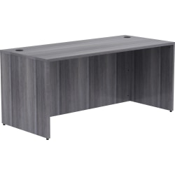 """Lorell® Essentials 66""""W Desk, Weathered Charcoal"""