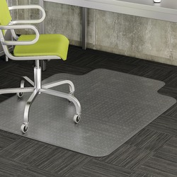 """Realspace™ Wide-Lip Chair Mat For Thin Commercial-Grade Carpets, Advantage, 46""""W x 60""""D, Clear"""