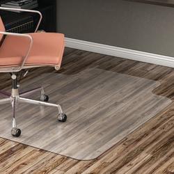"Realspace™ Hard-Floor Chair Mat, Wide Lip, 45"" x 53"", Translucent"
