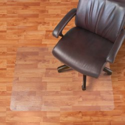 "Realspace™ Hard Floor Chair Mat, Rectangular, 46"" x 60"", Clear"