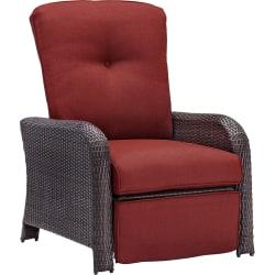 Hanover Strathmere Luxury Recliner, Crimson Red/Brown