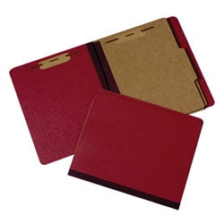 Extra Heavy-Duty Classification Folder, Letter Size, 30% Recycled, Red (AbilityOne 7530-00-990-8884)