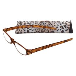 Zoom Eyeworks Reading Eyewear, Expressions Neoprene Cheetah, +2.50