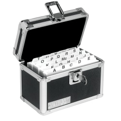 "Vaultz® Locking Index Card Box, 3"" x 5"", Black"