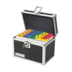 "Vaultz® Locking Index Card Box, 4"" x 6"", Black"